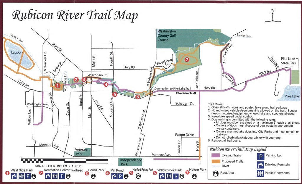 Rubicon River Trail Map